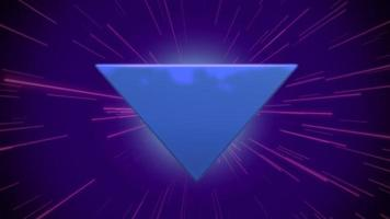 beweging retro blauwe driehoek abstracte achtergrond