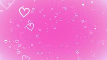 fundo brilhante do dia dos namorados. animação coração romântico video