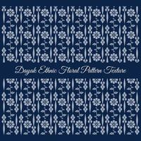 blue Dayak Ethnic Floral Pattern Texture vector