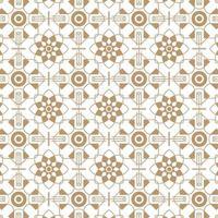 ornamento geométrico árabe sin costuras en color marrón vector