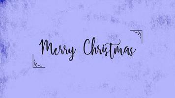 testo di animazione buon Natale su sfondo blu moda e minimalismo video