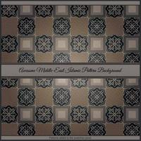 Awesome Middle East Islamic Pattern Background vector