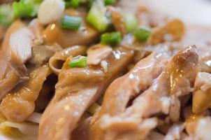 Close-up of braised chicken photo