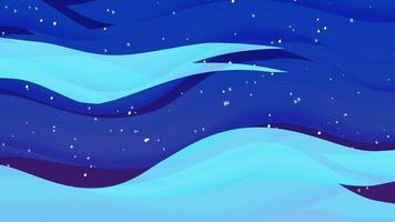 Karikaturanimationshintergrund mit Bewegungswolken auf blauem Himmel mit Sternen, abstrakter Hintergrund