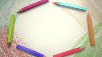 close up de fundo de crianças com lápis coloridos, fundo de escola