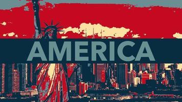 geanimeerde close-up tekst amerika op vakantie achtergrond, onafhankelijkheidsdag van de vs