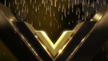 movimento luzes douradas e forma, fundo abstrato video