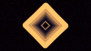beweging abstracte oranje geometrische vormen video