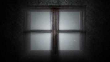 Fondo de terror místico con ventana cerrada. fiesta de halloween telón de fondo abstracto video
