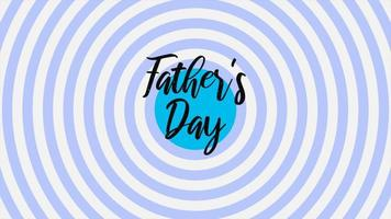 giorno di padri di testo di animazione su sfondo blu moda e minimalismo con linee di vertigini video