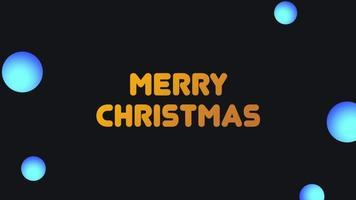 animering intro text god jul på mode och klubb bakgrund med lutning bollar