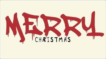 testo intro animazione buon Natale su hipster marrone e sfondo grunge video