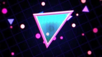 movimento retro triângulos fundo abstrato