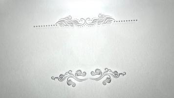 Cadre vintage gros plan avec mouvement de fleurs, fond de mariage