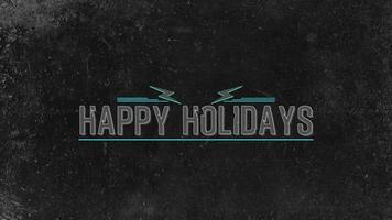 animazione intro testo buone vacanze su hipster nero e sfondo grunge video