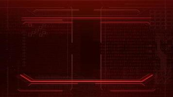 Cyberpunk-Animationshintergrund mit Computermatrix, Zahlen und Raster video