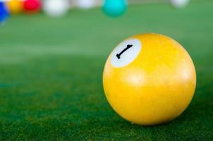 Close-up of a pool ball photo