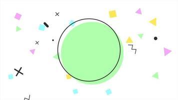 movimento abstrato geométrico pontos, cruzes, ziguezague e quadrados, fundo branco de memphis