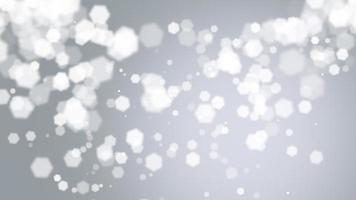 animação voar bokeh branco abstrato e partículas em fundo brilhante