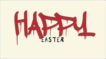 testo di animazione buona Pasqua su sfondo hipster e grunge video