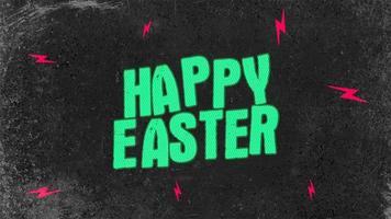 testo di animazione buona Pasqua su sfondo hipster e grunge con fulmini video