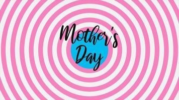 animação texto dia das mães sobre fundo rosa moda e minimalismo com espiral de vertigem video