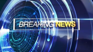 animatietekst breaking news en nieuwsintro afbeelding met blauwe cirkelvormige vormen in studio, abstracte achtergrond