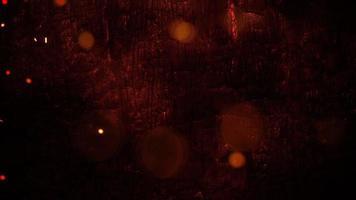 fundo de terror místico com sangue escuro com brilhos e câmera de movimento, pano de fundo abstrato