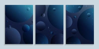cartel minimalista de arte de pared con planetas en el espacio exterior vector