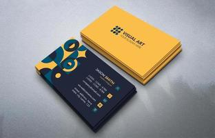 Elegant Business Card With Retro Style vector