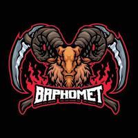 personaje de mascota baphomet vector