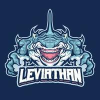 personaje de la mascota de leviatán vector
