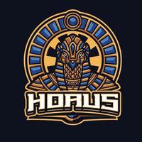 personaje de la mascota de horus vector
