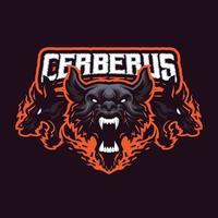 Cerberus mascot character vector