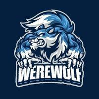 Werewolf mascot character vector