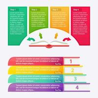 Inforgraphic Elements, Business Process template vector