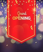 Grand Opening Curtain Template vector