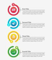 Business Process Template Design, infographic elements vector