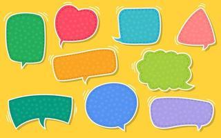 burbuja de texto, conjunto de burbujas de discurso de vector