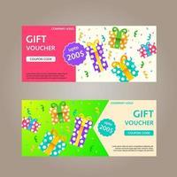 Gift Voucher Card Design vector