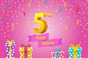 Happy Birthday Invitation Card Design vector