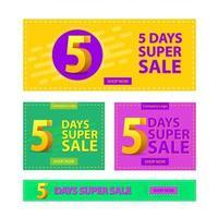 Super Sale Promotional Banner Set vector