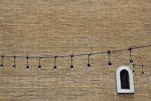 String lights outside
