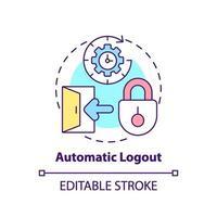 Automatic logout concept icon vector