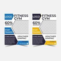 gym flyer vector template.