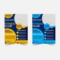 Creative gym flyer template. vector