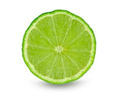 A sliced lime isolated on a white background photo