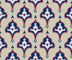 Oriental tile ornament. Abstrcat geometric retro seamless pattern. Floral asian native ornamental  backdrop. vector