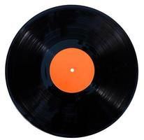Gramophone vinyl record isolated on a white background photo