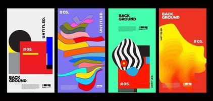 diseño de diseño de collage colorido vector para portada de revista